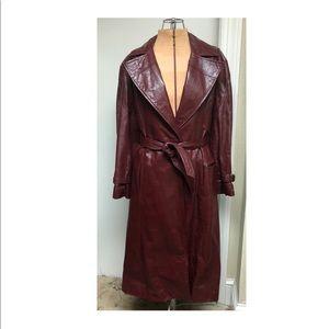 Vintage 70's Oxblood Etienne Aigner Trench Coat